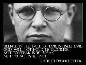 Dietrich Bonhoeffer Quote Courtesy Timeline Photos