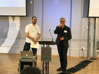 (Left to right) Daryl Booth, founder of Sarx and Steve Chalke, senior pastor of Oasis Church and moderator of the event.